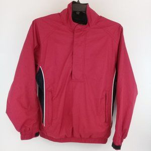FOOTJOY Men's Golf Rain/Wind Red/Black Jacket Sz S